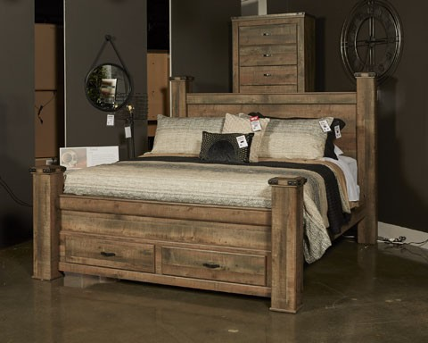 Trinell - Brown - King Poster Storage Footboard