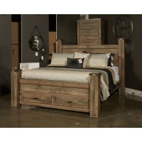 Trinell - Brown - King Poster Headboard Panel