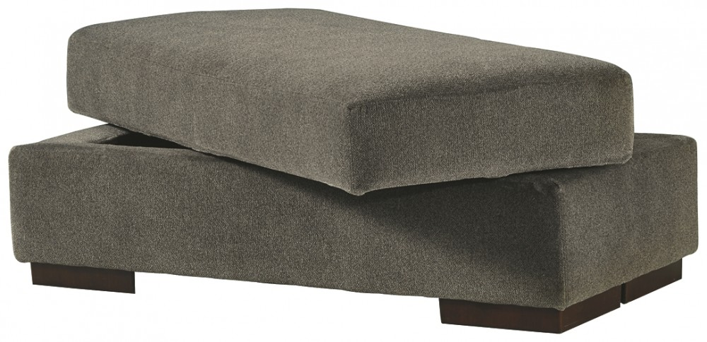 Manzani - Graphite - Ottoman With Storage