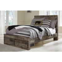 Derekson - Multi Gray - Full Storage Footboard