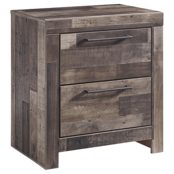 Derekson - Multi Gray - Two Drawer Night Stand