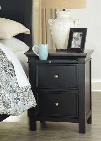 Froshburg - Two-tone - Two Drawer Night Stand