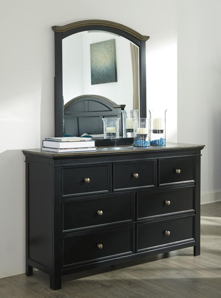 froshburg two tone bedroom mirror - Bedroom Mirrors