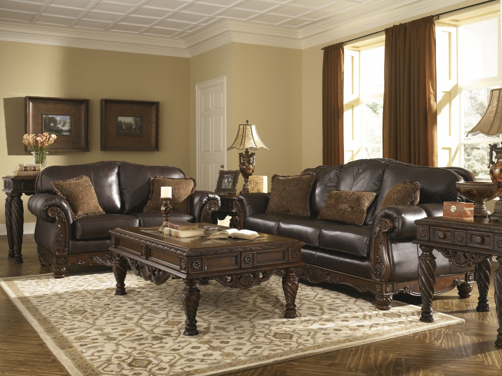north shore dark brown sofa loveseat - Dark Brown Couch