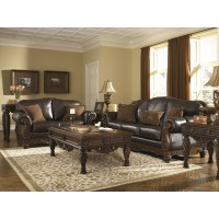 North Shore - Dark Brown Sofa & Loveseat