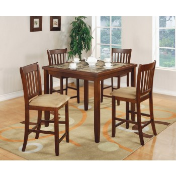 Cherry 5pc Counter Height Table/chair Set - 150154