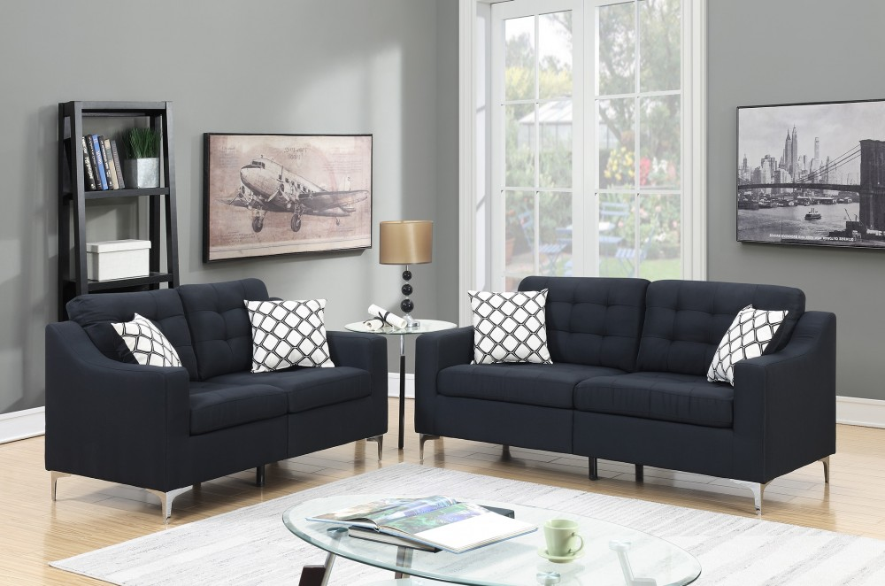 PriceBusters Special Black Sofa U0026 Love Under $500