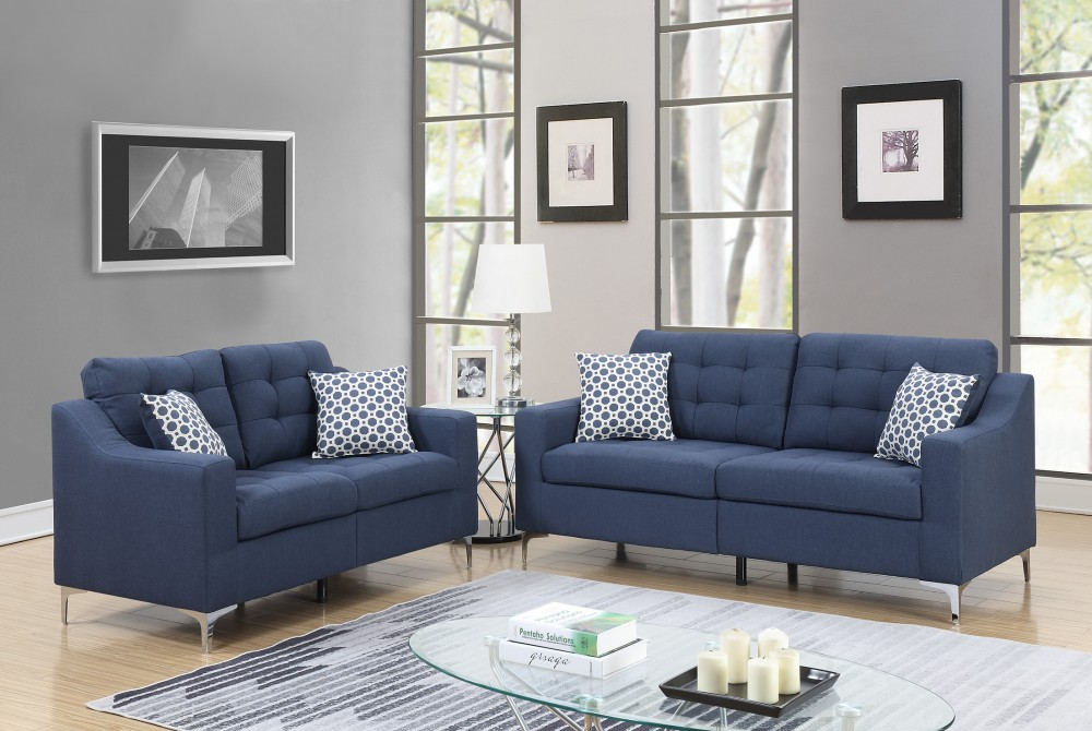 Pricebusters Special Navy Sofa Love Under 500 U135 Blue Living Room Sets Price Busters
