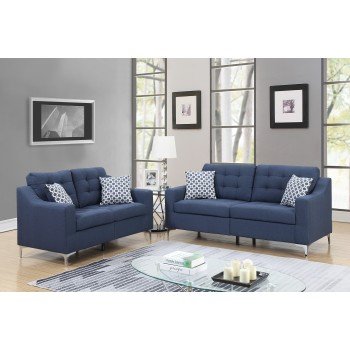 Pricebusters Special Navy Sofa Love Under 500 U135 Blue Living Room Sets Price Busters Furniture