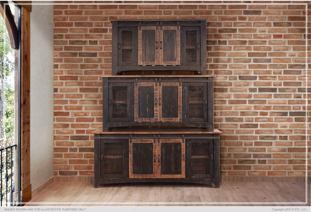 123ae190fe16 60' Pueblo Black TV Stand | IFD370STAND-60 | TV Stand | District 704