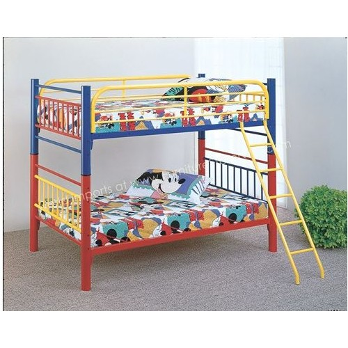 Tri Color Twin/Twin Bunk Bed