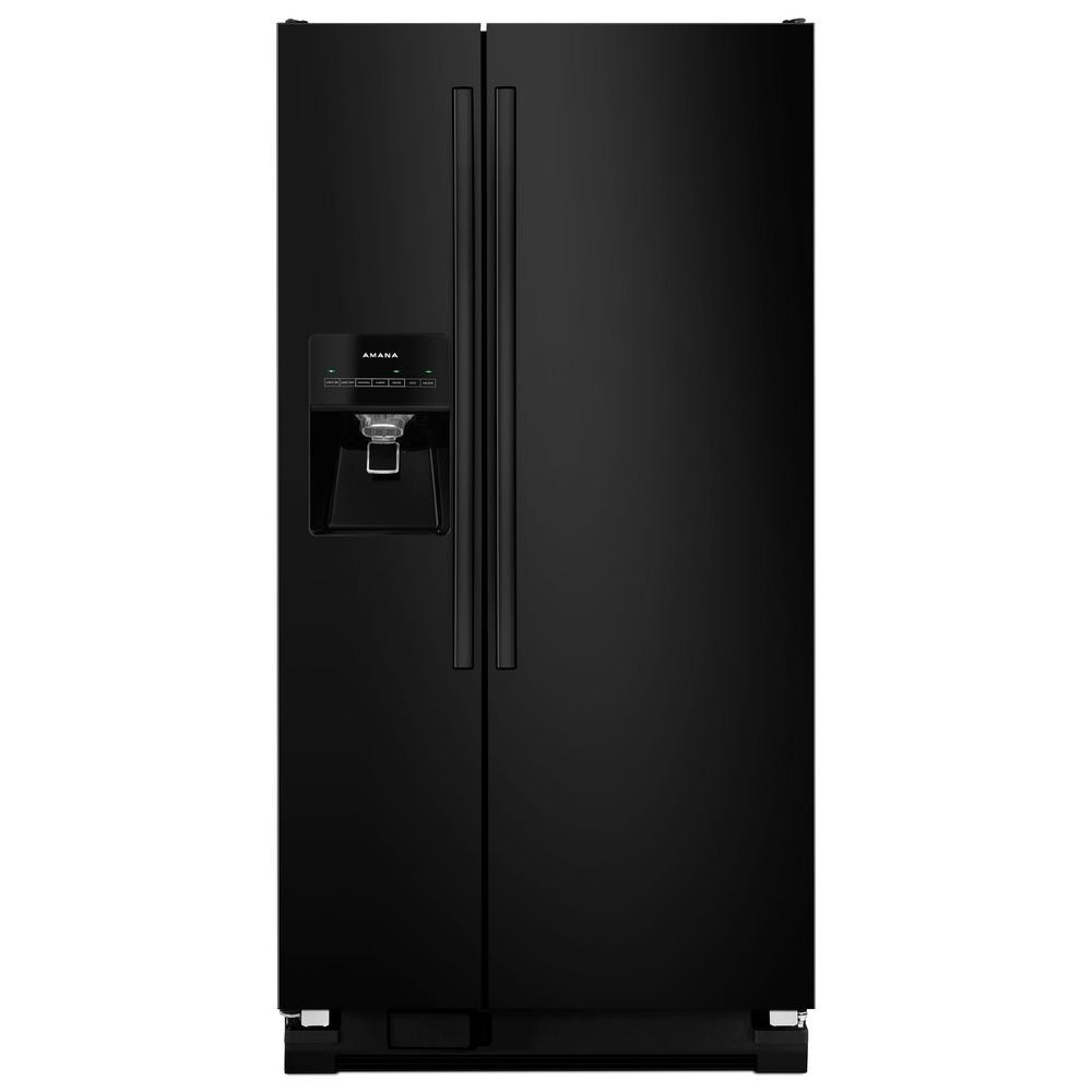 Amana Black 21.2 cu. ft Side by Side
