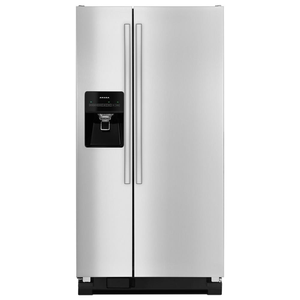 Amana Stainless Steel 21.2 cu. ft Side by Side