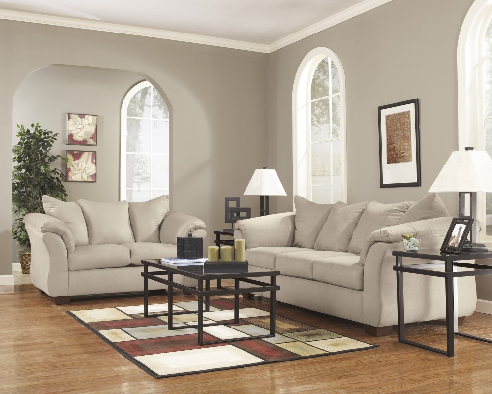 Darcy stone sofa loveseat