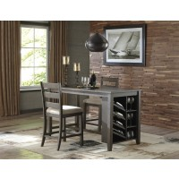 Rokane - RECT Counter Table w/Storage & 2 UPH Barstools