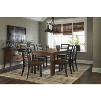 Manishore - Rectangular Dining Room Table & 6 UPH Side Chairs
