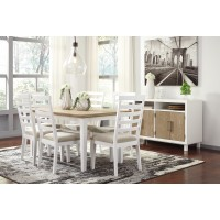 Gardomi - Rectangular Dining Room Table & 6 UPH Side Chairs