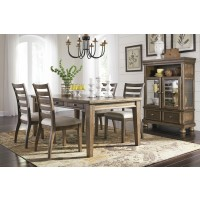 Flynnter - Rectangular Dining Room Table & 4 UPH Side Chairs