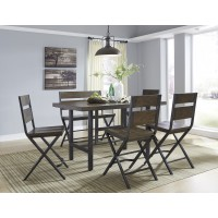 Kavara - RECT Dining Room Counter Table & 2 Double Barstools