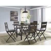 Kavara - RECT Dining Room Counter Table & 6 Barstools