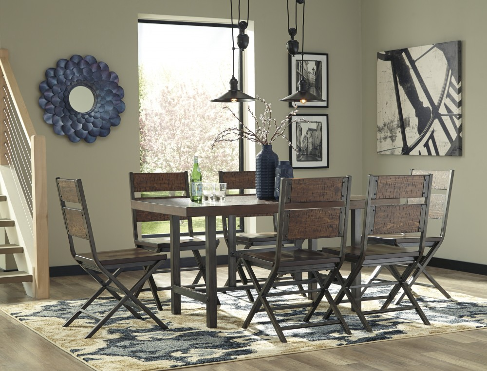 Kavara - Rectangular Dining Room Table & 6 Dining Chairs