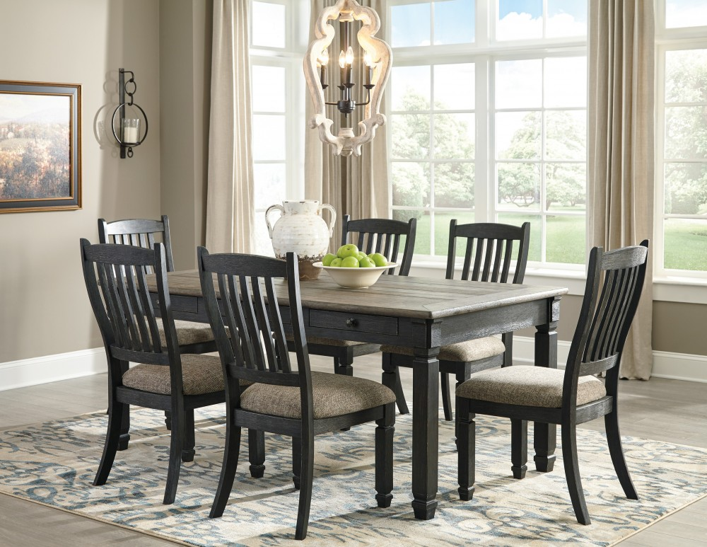 Swell Tyler Creek Rectangular Dining Room Table 6 Uph Side Chairs Interior Design Ideas Inesswwsoteloinfo