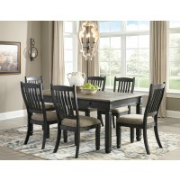 Tyler Creek - Rectangular Dining Room Table & 6 UPH Side Chairs