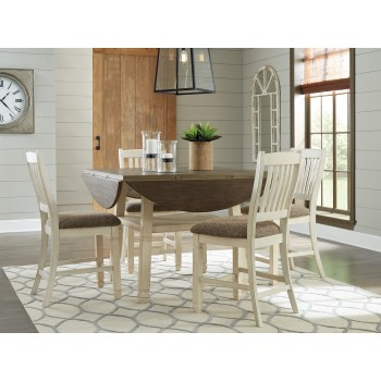 Bolanburg - Round Drop Leaf Counter Table & 4 UPH Barstools