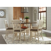 Bolanburg - Round Drop Leaf Counter Table & 6 UPH Barstools