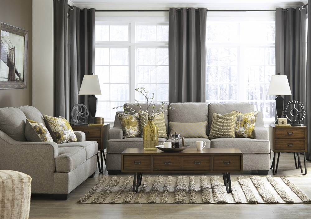 Mandee - Pewter - Sofa & Loveseat