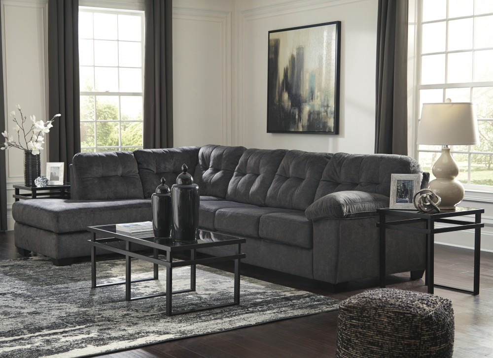 Accrington Granite 2 Pc Laf Corner Chaise Sectional Sectionals