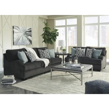 Charenton - Charcoal - Sofa & Loveseat