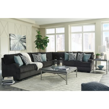 Charenton - Charcoal 3 PC Sectional