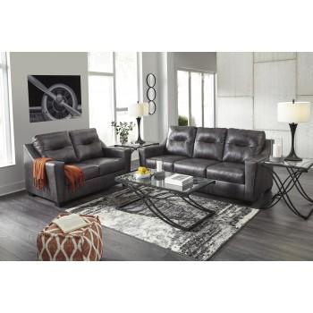 Kensbridge - Charcoal - Sofa & Loveseat