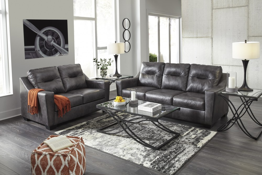 Kensbridge - Charcoal - Sofa & Loveseat