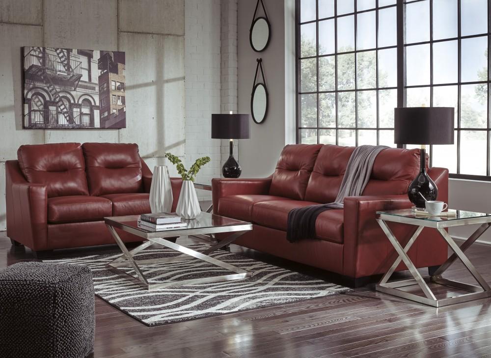 Kensbridge - Crimson - Sofa & Loveseat