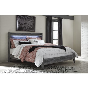 Baystorm - Gray - King Panel Bed