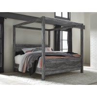 Baystorm - Gray - King Canopy Bed