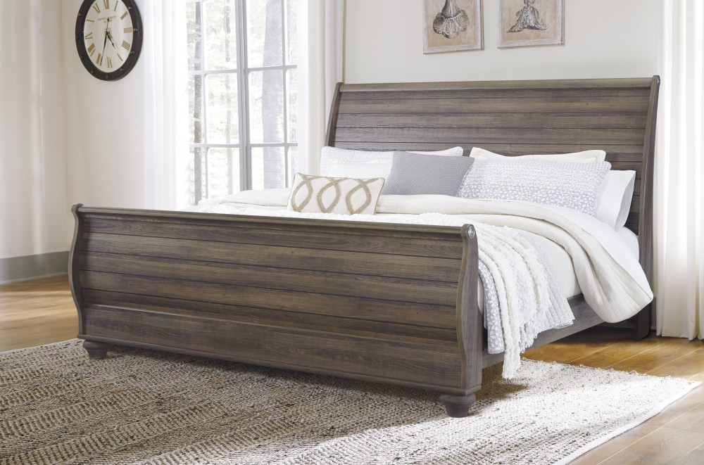 Birmington - Brown - King Sleigh Bed | B268/78/76/97 | Complete Beds ...