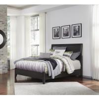 Daltori - Black - Queen Panel Bed