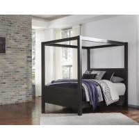 Daltori - Black - Queen Canopy Bed