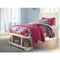 Blinton - White - Twin Panel Bed with Storage Footboard