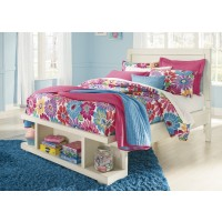 Blinton - White - Full Panel Bed with Storage Footboard