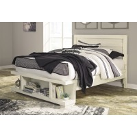 Blinton - White - Queen Panel Bed with Storage Footboard