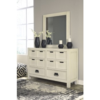Blinton - White - Dresser & Mirror