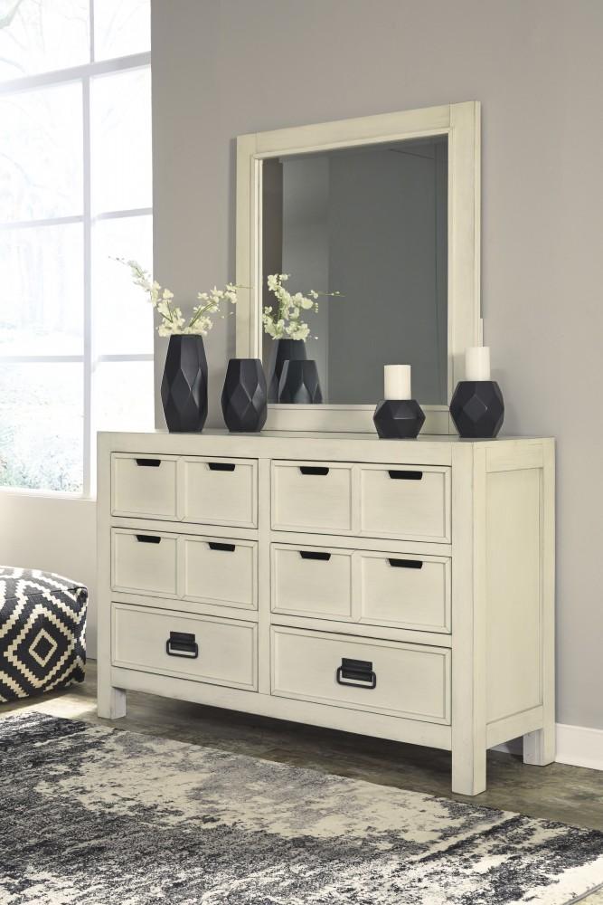 Blinton - White - Dresser & Mirror