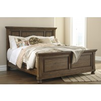 Flynnter - Medium Brown - Queen Panel Bed