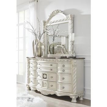 Cassimore - Pearl Silver - Dresser & Mirror