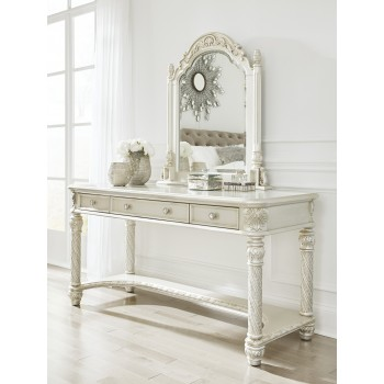 Cassimore - Pearl Silver - Vanity & Mirror