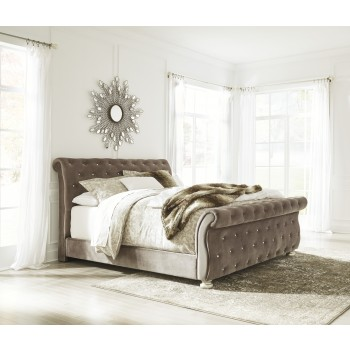 Cassimore - Pearl Silver - King Upholstered Bed